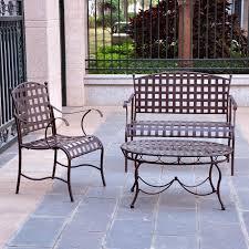 3 wrought iron patio furniture lounge seating set
