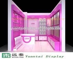 Wholesale Garment Wall Display Racks For Woman Underwear Shop Interior Design
