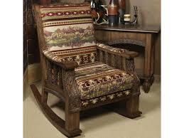 Marshfield Pine Creek North Woods Upholstered Rocker Chair ...