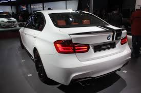 Auto Expo 2014 BMW 320d Sport Line in black racing stripes