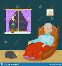 Old Woman Sitting In A Rocking Chair In A Room At Night ... Illustration Featuring An Elderly Woman Sitting On A Rocking Vector Of Relaxed Cartoon Couple In Chairs Lady Sitting Rocking Chair Storyweaver Grandfather In Chair Best Grandpa Old Man And Drking Tea Santa With Candy Toy Above Cartoon Table Flat Girl At With Infant Baby Stock Fat Dove Funny Character Hand Drawn Curled Up Blue Dress Beauty Image Result For Old Man 2019 On Royalty Funny Bear Vector Illustration