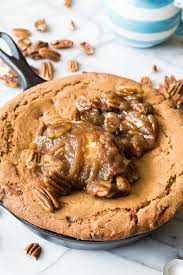 Pumpkin Pie With Pecan Praline Topping by Butter Pecan Skillet Cookie House Of Yumm