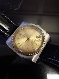 Vintage Longines Ultra chron 431 Automatic 10kt Gold Bezel Huge 36
