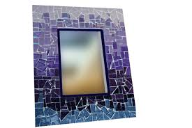 Blue Mosaic Bathroom Mirror by Mirror Deep Blue Round Mosaic Mirror With Large Mosaic Mirrors