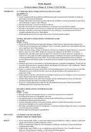 Download Security Operations Center Manager Resume Sample As Image File
