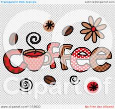 Clipart Of Colorful Sketched Coffee Word Art Royalty Free Vector Rh Clipartof Com Cup Transparent Background
