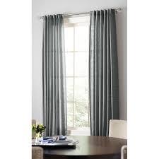 shop allen roth evington 84 in dark gray cotton back tab light