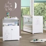 chambre bébé lit commode chambre bébé complète pas cher à prix auchan