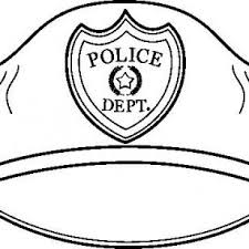 EducationDownload For Free Police Coloring Pages Hat With Logo Badge