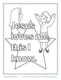 Bible Coloring Pages For Kids Inside Jesus Loves Me Page