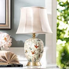 bird pattern painting ceramic l for bedroom