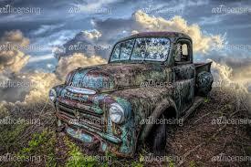 100 Vintage Dodge Trucks Old Truck In Hdr Detail Art Licensing