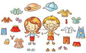 Summer Clothes Set For A Boy And Girl Items Can Be Put On