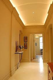 hallway lighting cove and recessed cans lumilum warm white