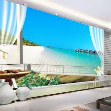 custom 3d photo wallpaper murals maldives 3d stereoscopic