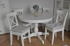 esstisch rund ausziehbar mit vier stühlen in münchen