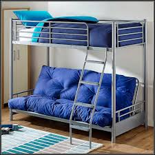 futon bunk bed with mattresses