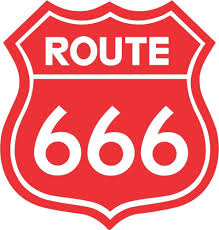 Route 666 Road Sign Decal 4
