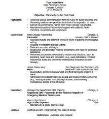 resume for firefighter paramedic emt cover letter professional emt cover letter sle writing
