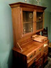 Solid Cherry Dining Room Hutch China Cabinet Early American Colonial Style EX