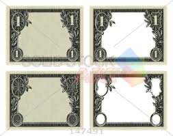 Dollar Bill Frames On A Transparent Background