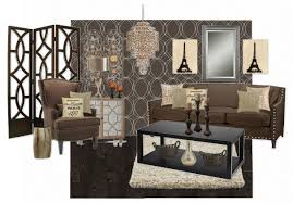 parisian inspired brown living room by brtnyt olioboard