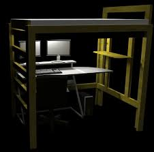 Free Loft Bed Plans For College by College Bed Loft Twin Xl 9 Steps With Pictures