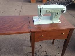 vintage sears kenmore sewing machine cabinet purpose thrift
