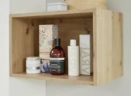 details zu bad regal hängeregal eiche asteiche 47 x 31 cm wandregal badmöbel badezimmer one