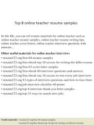 Teacher Resume Examples Elementary 2013