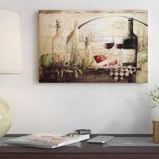 Tuscan Vineyard Wine Graphic Art Print On Canvas