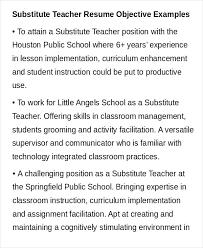 Teacher Resume Objective Samples Sample Free Word Documents Download Regarding Career