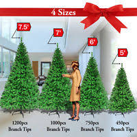 5 75ft Christmas Tree W Metal Stand Decorate Ornament Xmas GREEN Realistic Pine