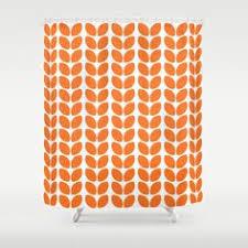 Purple and Orange Stripes Shower Curtain