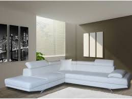 canapé design blanc canap cuir blanc but amazing canape d angle cuir buffle croqsol