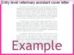 Kennel Assistant Cover Letter Entry Level Veterinary Design Of Resume Examples