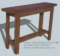 ana white simple cheap and easy console table diy projects