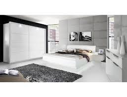 schlafzimmer 21c weiß teils hochglanz bett nakos schrank kommode expendio