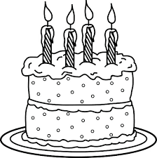 Awesome Coloring Page A Birthday Cake Print No Candles Image Inspiration Pages Picture Candle