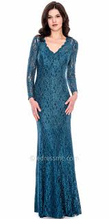 long sleeve shimmering lace dress by decode 1 8