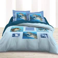 chambre dauphin housse de couette 200x200 motif dauphin parure de lit