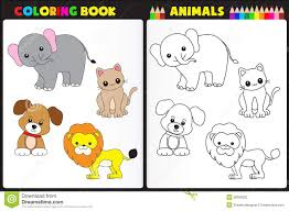 Royalty Free Stock Photo Download Coloring Book Animals