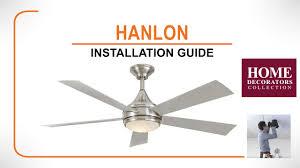 Brookhurst Ceiling Fan Downrod by Hanlon Ceiling Fan Installation Guide Youtube