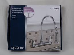 Aquasource Kitchen Faucet Problems by Aquasource Chrome 2 Handle High Arc Kitchen Faucet With Side Spray