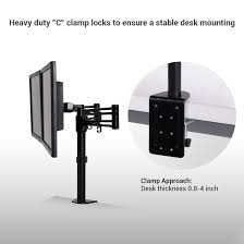 Desk Mount Monitor Arm Dual by Thingyclub Full Motion Computer Monitor Arm Desktop Mount Stand