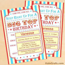 Click Here To Download A Free Printable Circus Carnival Birthday Invitation Set Ticket Template Templates For