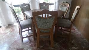 esszimmer mit ausziehbarem tisch eiche rustikal