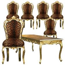 Beautiful Leopard Print Gold Table 6 Dining Room Chairs Black Wooden ... Vig Fniture Modrest Kingsley Modern Black Rose Gold Ding Chair Of America Duarte Iii Crocodile Textured Zuo Elio Set 2 Antique Sets Glass Tops Bases Chairs Frame Pedestal Vintage European And Round Table Beautiful Leopard Print 6 Room Wooden Best Of 25 With Legs Ideas Design 100 Transformed Reality Daydream Meridian Karina The Classy Home Inspirational 50 And Dcor Inspiration For New Years Eve Nage Designs Patings On Blue Wall Gold Clock In Modern Ding Room