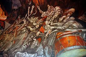 Jose Clemente Orozco Murals by Drums And Violins Balcony Clowns Of War Arguing In Hell U2026 Flickr