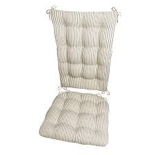 Amazon.com: Ticking Stripe Black Rocking Chair Cushions - Extra ... Chair Outdoor Rocking Cushions High Back Garden Pads With Ties Kitchen Country Cozy And Stylish Homesfeed Cushion Sets More Clearance Ipirations Interesting Bar Stool For Your Stools Coordinate Decor With Curtains Sturbridge Yankee Fniture Add Comfort And Style To Favorite Checkers Black White Checkered Latex Foam Green Stunning Mainstays Trellis Walmart Com Eaging Interior Outstanding Design Make A Comfortable Windsor Chairs Sophisticated Marvellous